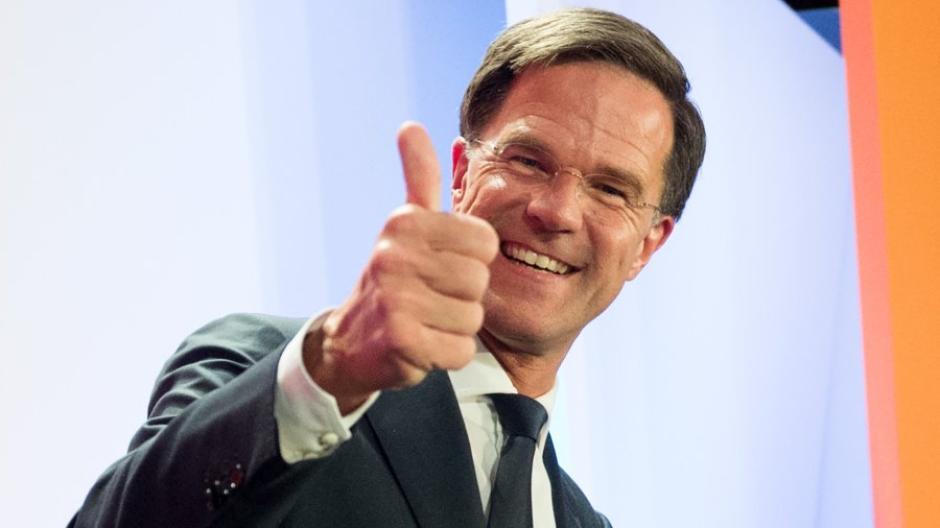 niederlande mark rutte ein mann mit