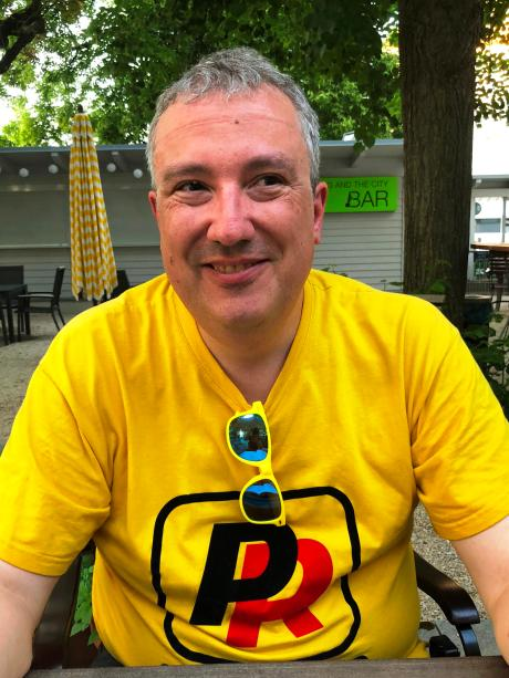 Holger Strichau alias Balu, professional fan of the park rockers (