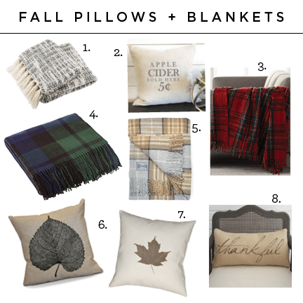 Fall pillows and throw blankets
