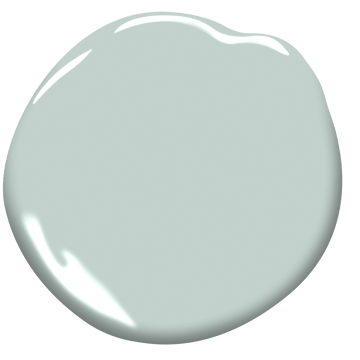 Benjamin Moore Woodlawn Blue Paint | Woodlawn Blue HC-147 Colorography | Woodlawn Blue HC-147 Paint Blob