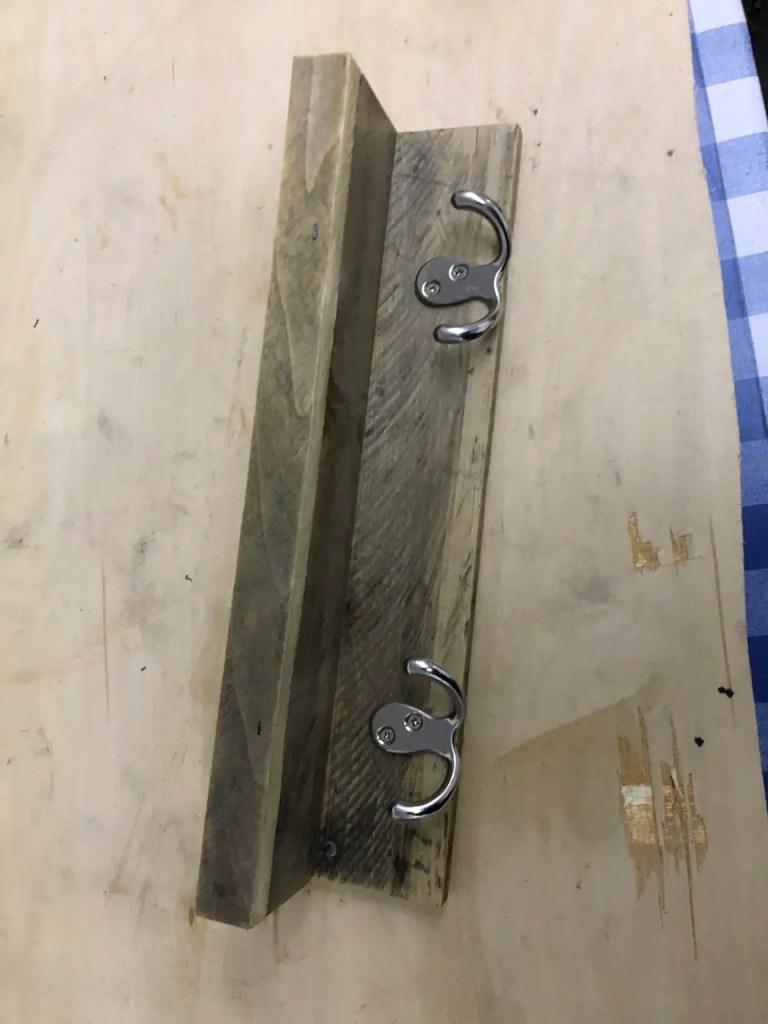 2 hook wall mounted coat rack