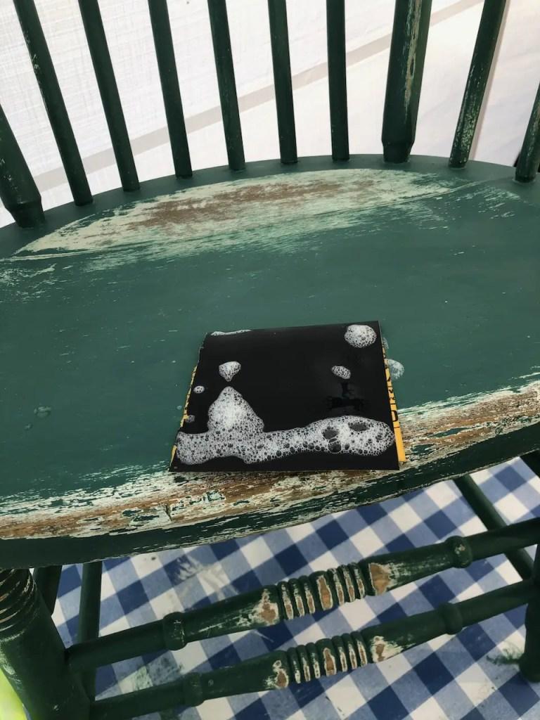 distressed finishing farmhouse chair
