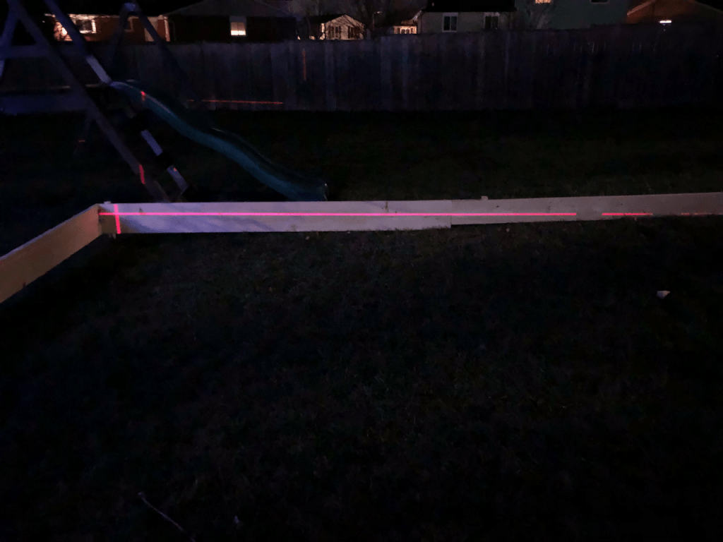 Levelling a backyard Ice rink