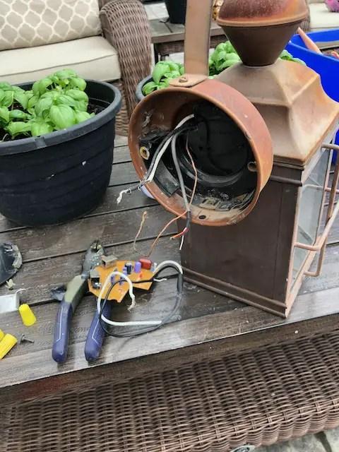 rewiring an outdoor light