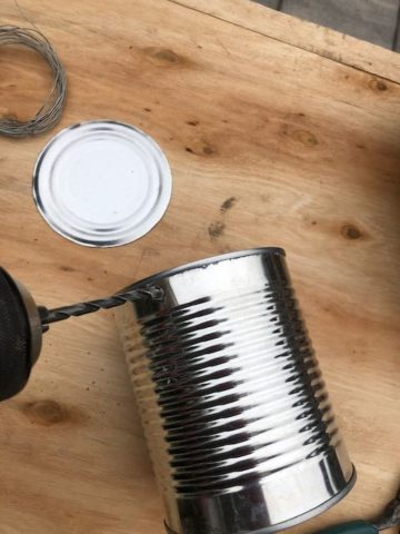 DIY mosquito repellent from tin can