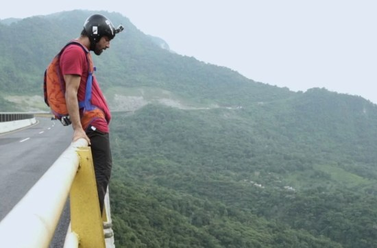 The Flip Film with Remi Angeli waiting the right moment to BASE jumping from a bridge.