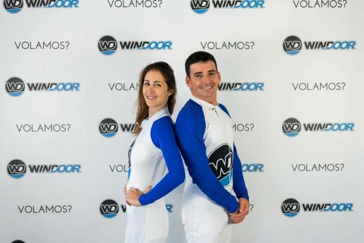 Wind tunnel competitors showing their Vertigen Jumpsuit