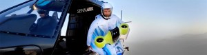 Peter Salzmann first real flight with the electrified wing suit by BMW