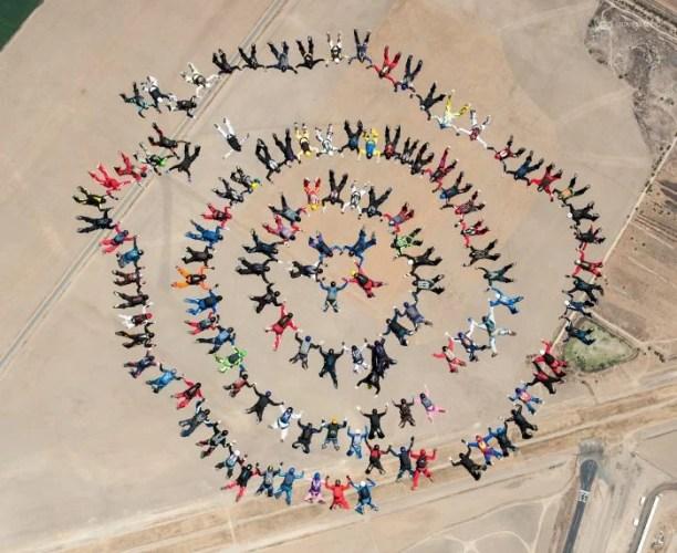 Big way skydiving world record