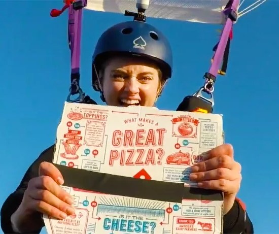 Domino's Pizza got delivered at 10000 feet from the ground