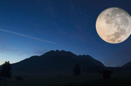 Skydiving at night full moon