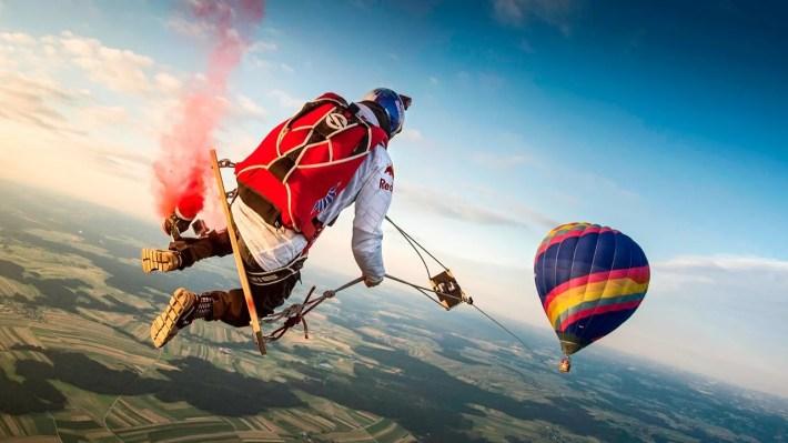 hot air balloon jump