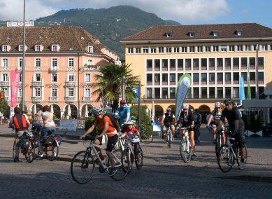 3. Etappe Augustour 2014: Start Bozen