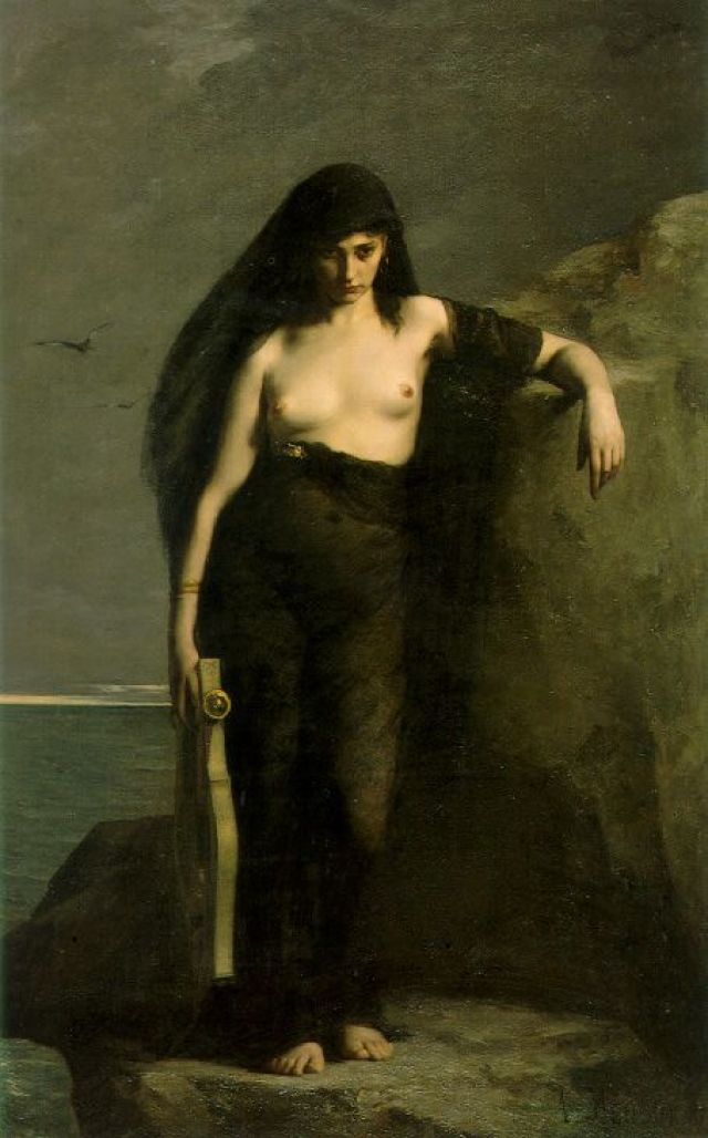 "Artwork ""Sappho"" created by Charles Mengin"