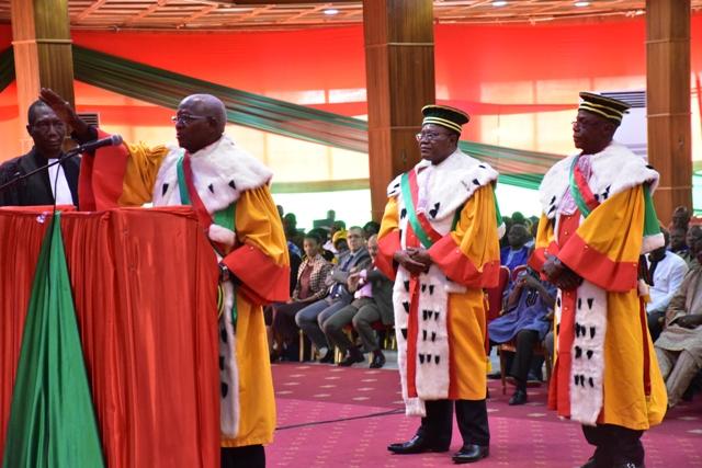 Conseil constitutionnel :Trois nouveaux membres ont prêté serment