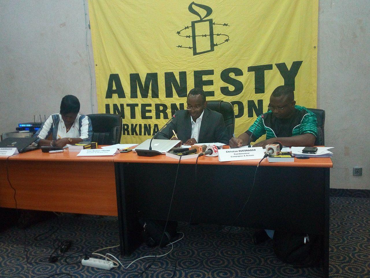 Situation des droits humains dans le monde  : Amnesty International-Burkina attend beaucoup du procès du 27 février