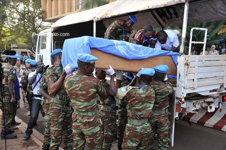 4 casques bleus tués à Douentza  :Lourde hypothèque sur la présidentielle malienne