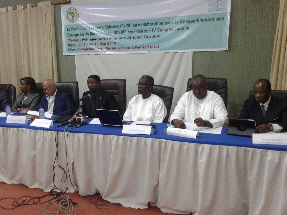 Fédération des Verts d'Afrique :  Le 4e congrès des écolos se tient à Ouaga