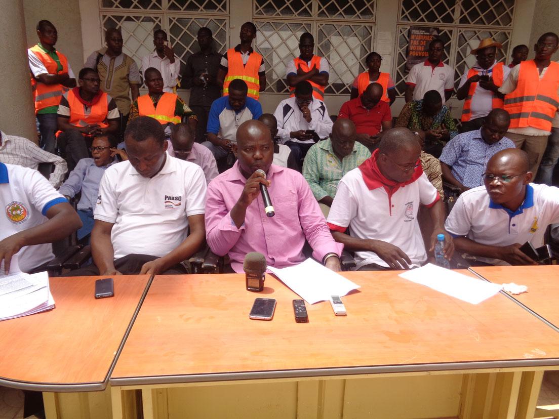 Bonaventure Bélem de la CNSE: «La lutte engagée se poursuivra jusqu'à la victoire»