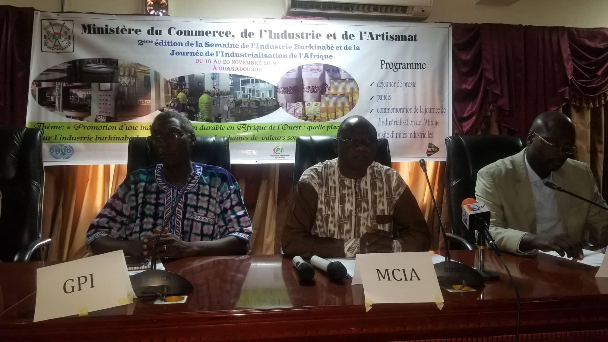 2e édition de la semaine de l'industrie burkinabè: Trouver les solutions aux maux qui minent le secteur