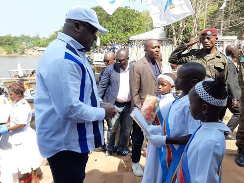 Tshisekedi à Zongo: Fatshi ratisse large au Sud-Oubangui