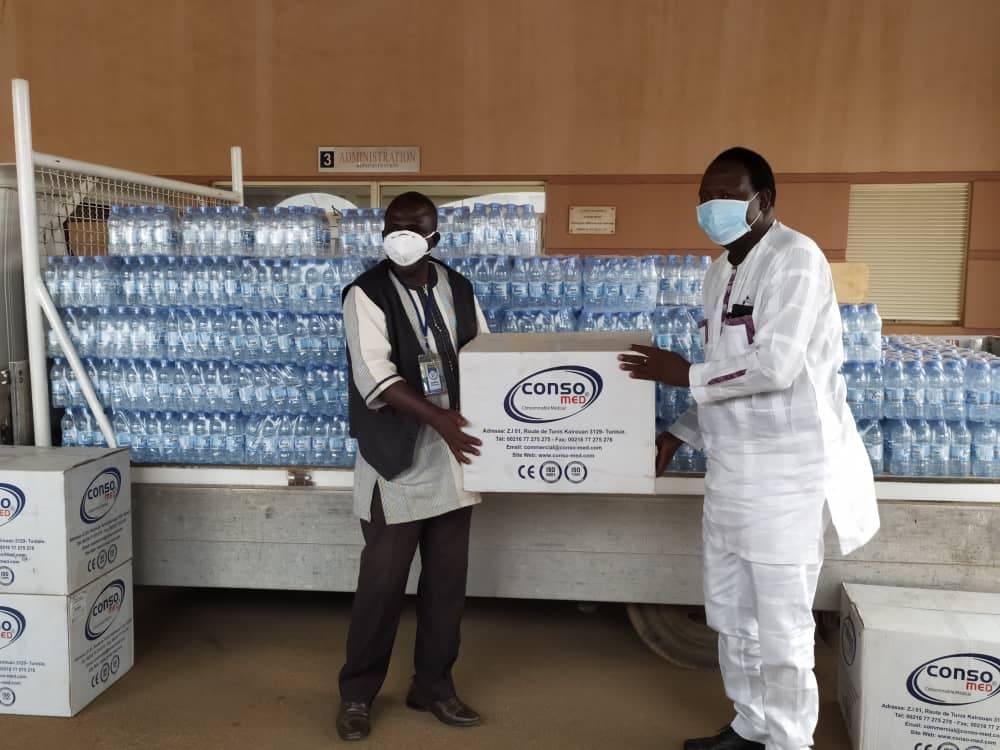 Lutte contre le Covid-19: Le PCA de Majestic, Amado Traoré soutient le personnel du CHU-Tengandogo