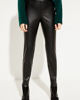 Comma vegan leather trousers