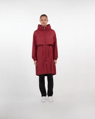 Makia Den jacket ruby