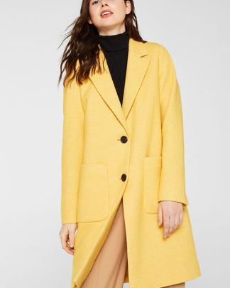 Esprit coat yellow