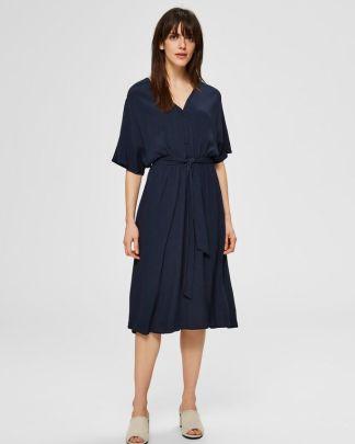 Selected Femme Vienna Short Dress Blue