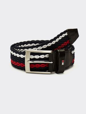 Tommy Hilfiger Adam Stripe Webbing Belt Stripe