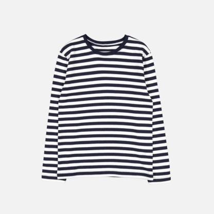 Makia Kids Verkstad Longsleeve T-shirt Navy-White