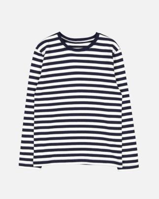 Makia Kids Verkstad Longsleeve T-shirt Navy-White