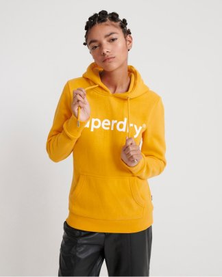Superdry Flock Entry Hood Yellow