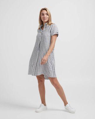 Holebrook Solina Tunic Dress Navy/Offwhite
