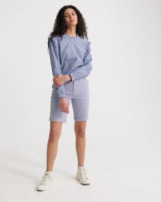 Superdry City Chino Shorts Navy Stripe