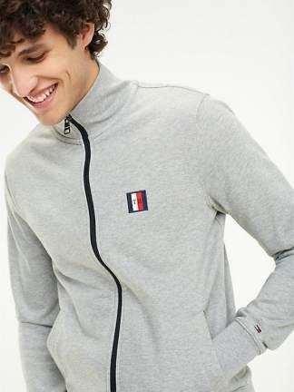 Tommy Hilfiger Zip-thru sweater Cloud htr