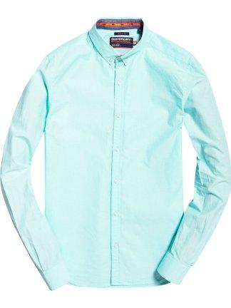 Superdry International Poplin l/s shirt Aqua