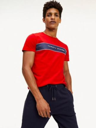 Tommy Hilfiger chest stripe t-shirt