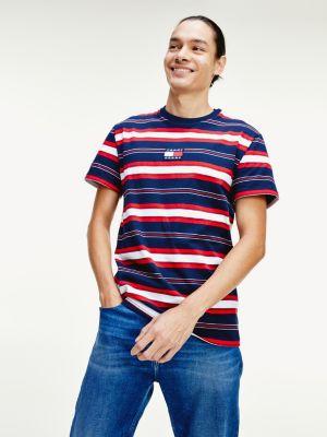 Tommy Jeans striped logo tee