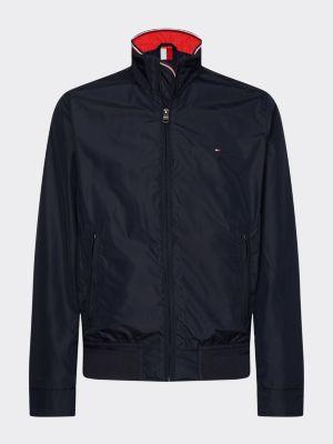 Tommy Hilfiger Stand Up Collar Bomber Jacket Blue