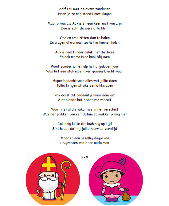 Sinterklaasgedichten 2 Voor Opa En Oma En Baby Aukjeswereld