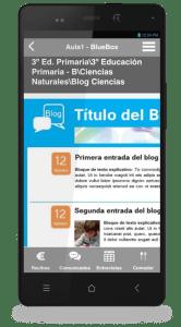 App para alumnos / familias (contenidos y blog)