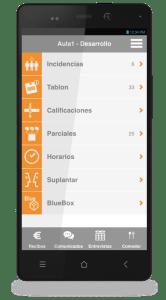 App para alumnos / familias (área privada)