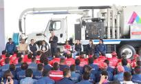 Entrega Alfredo del Mazo equipo para reducir riesgos de inundaciones en temporada de lluvias 9