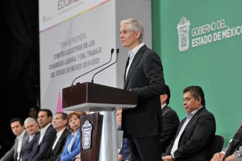 Refrenda Alfredo Del Mazo su compromiso de trabajar en unidad con el Sindicalismo Mexiquense