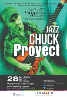 Anuncian concierto del Grupo Jazz Chuck Project en Museo Virreinal de Zinacantepec 2