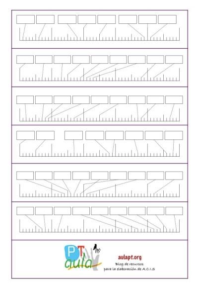 plantilla rectas numéricas en blanco