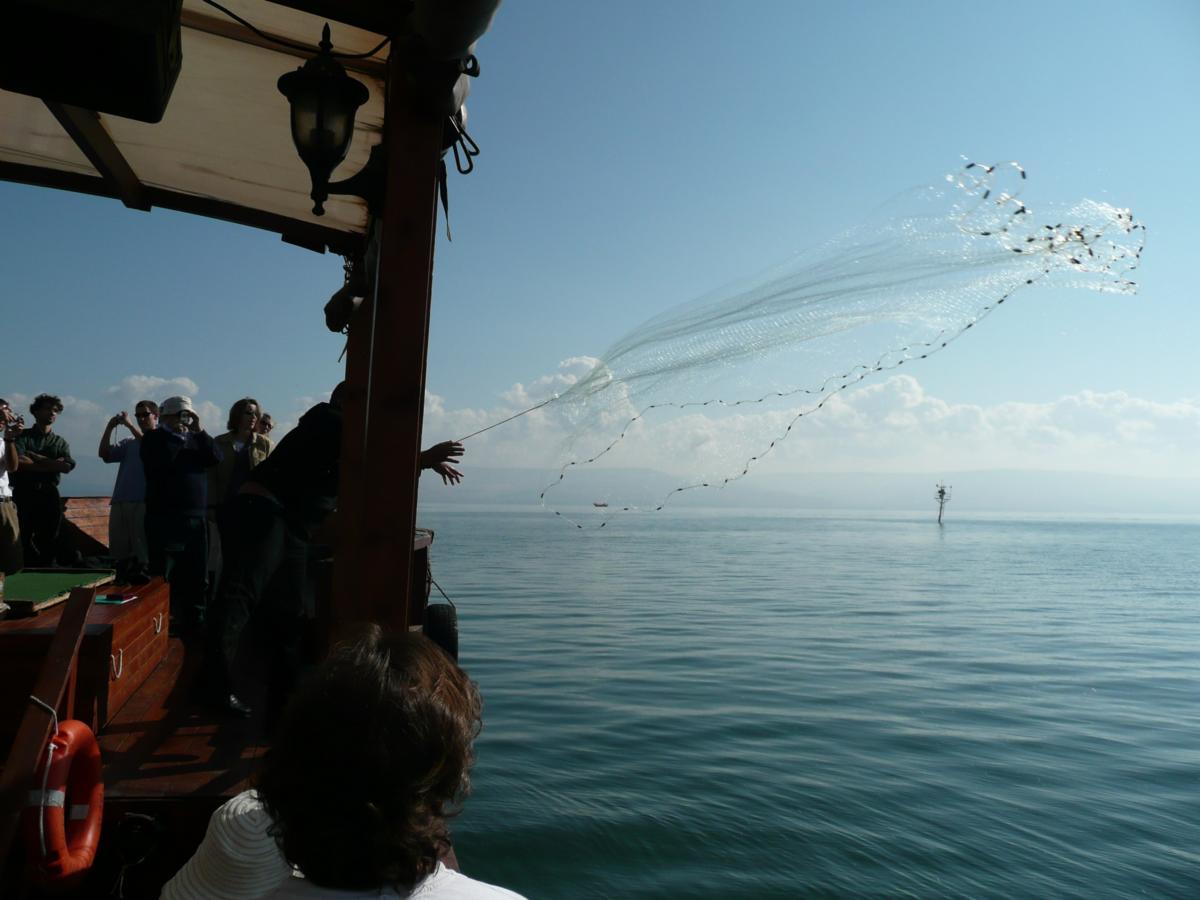 Lac de Galilée, jet de l'épervier (phtot F.B. 2007)
