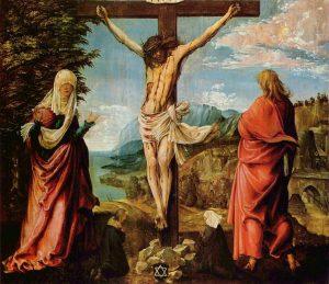 Albrecht Altdorfer, le Christ en Croix entre Marie et Jean, 1512